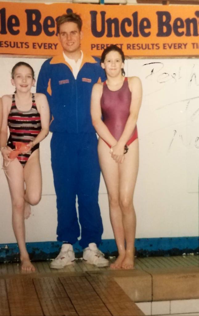 Me (left) at Borough of Sunderland Swimming Club c.1992